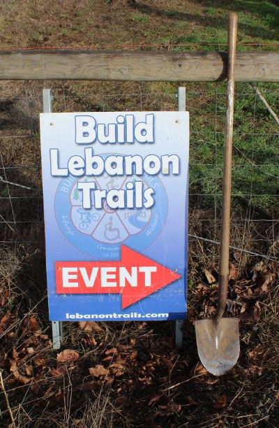 BLT event sign with shovel