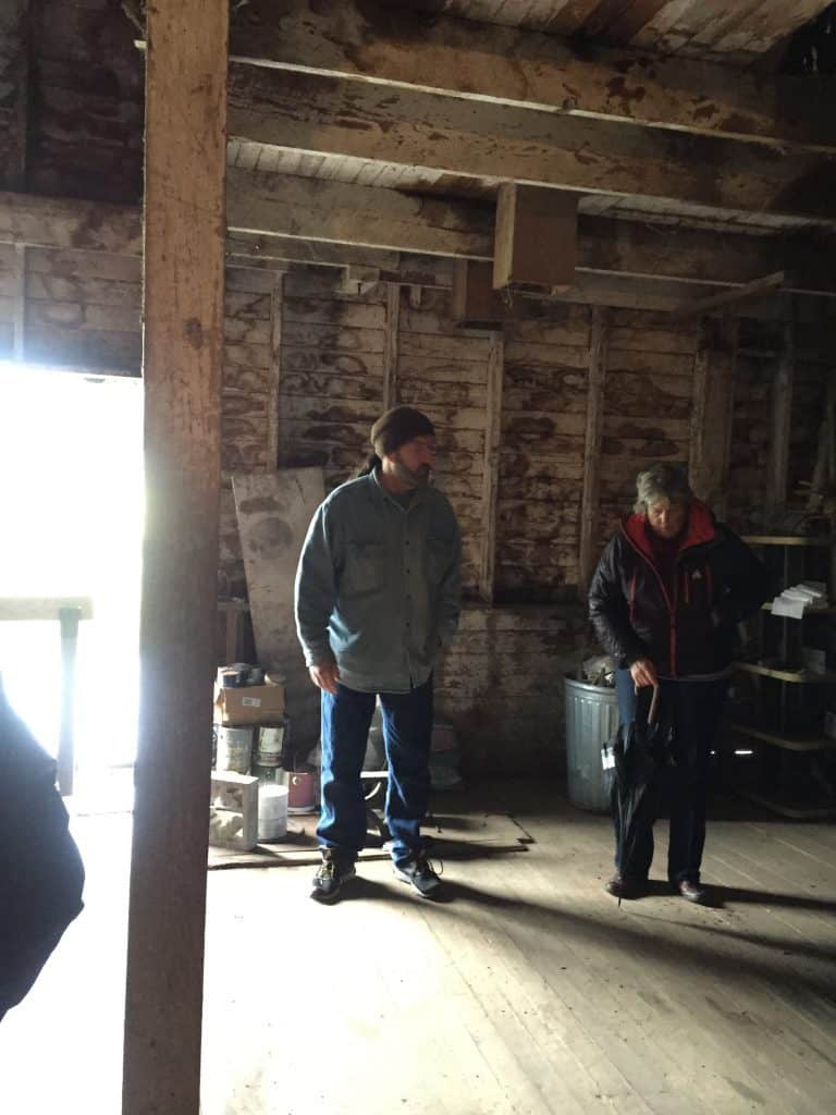 Our tour guide at the Scroggins Mill.