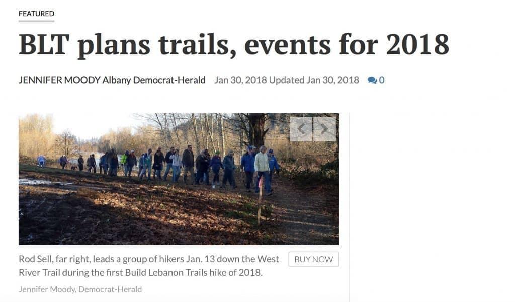 Screenshot of Jan 2018 Albany Democrat-Herald article